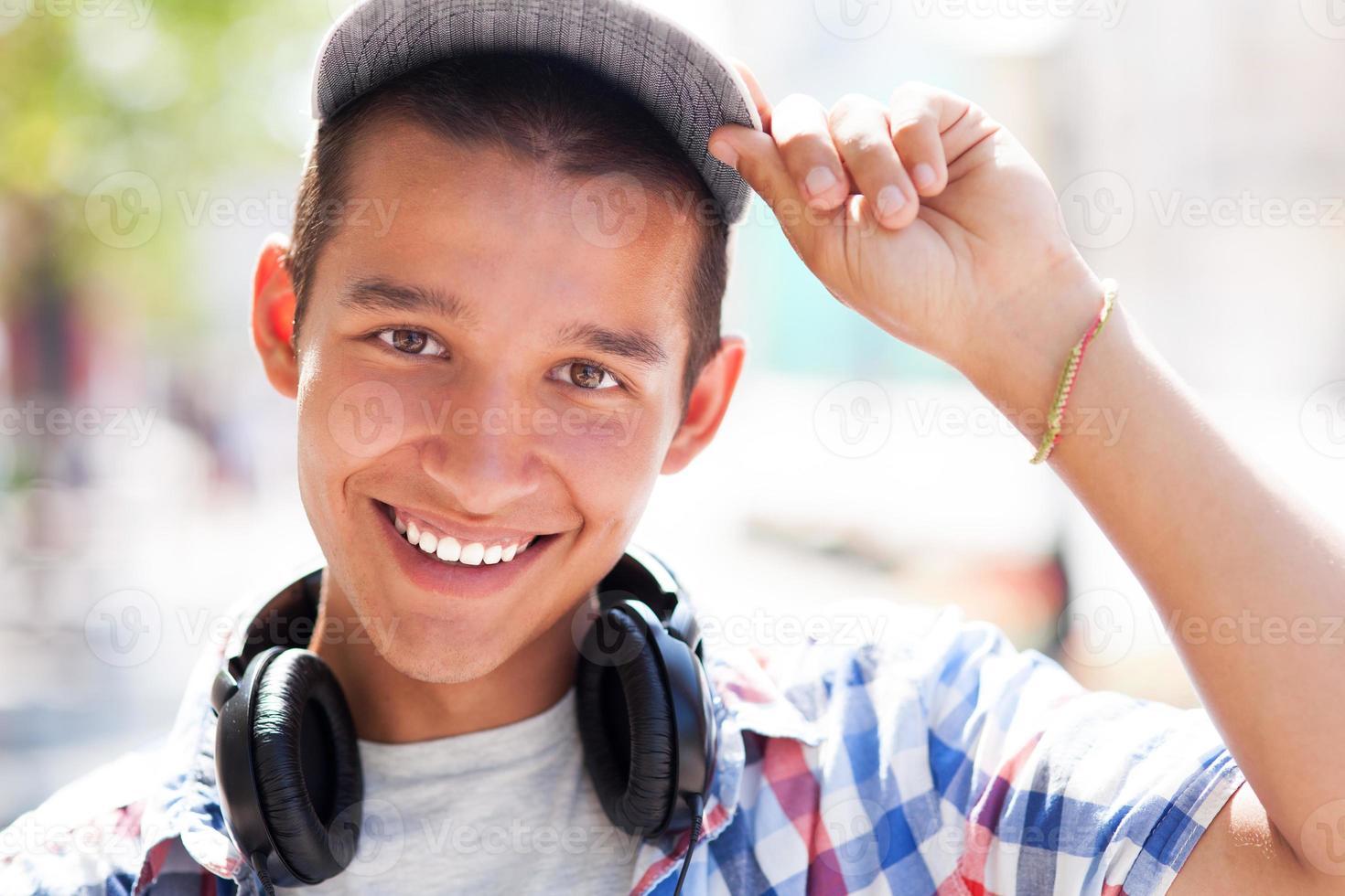 Casual teenage boy photo