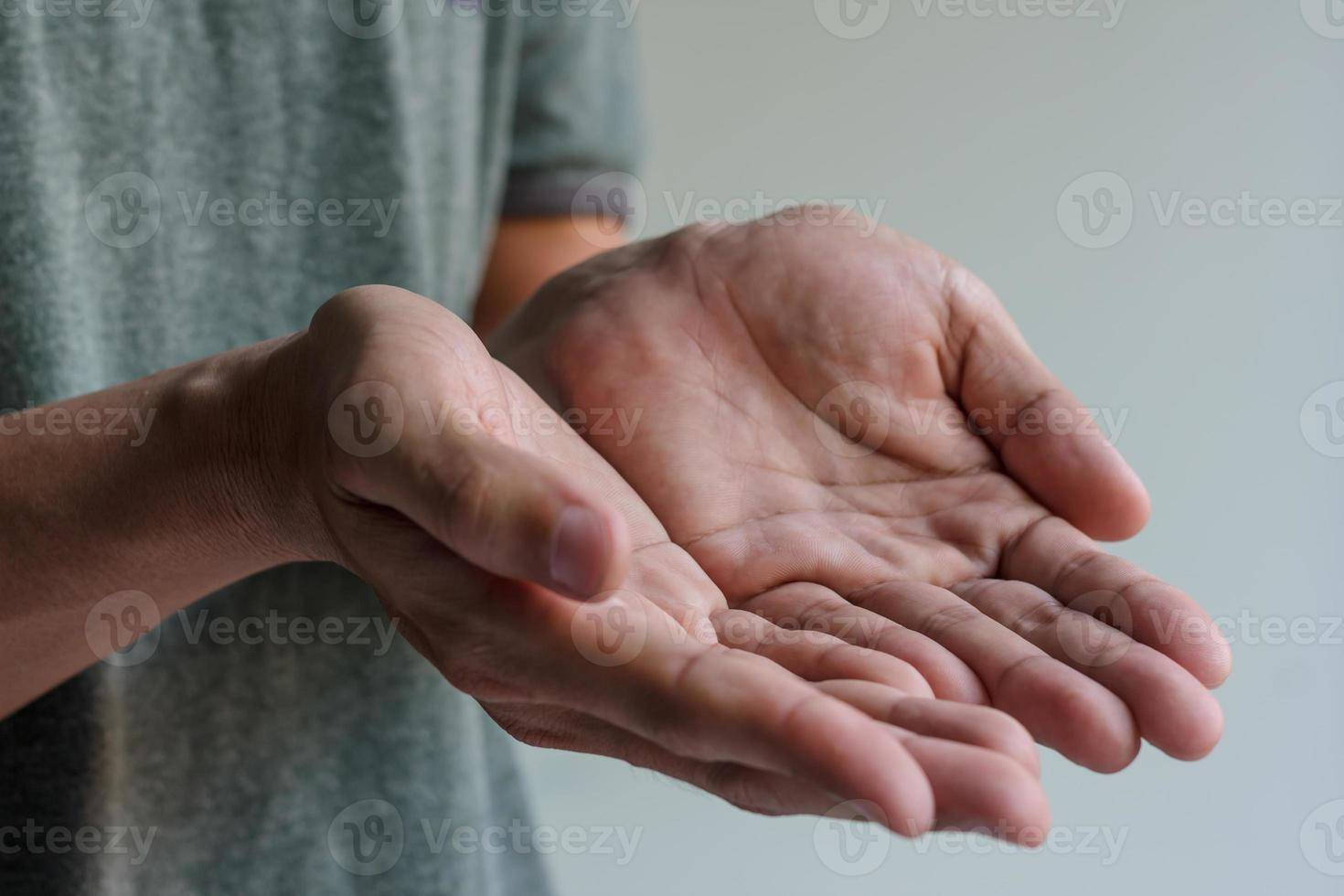 Male hands photo
