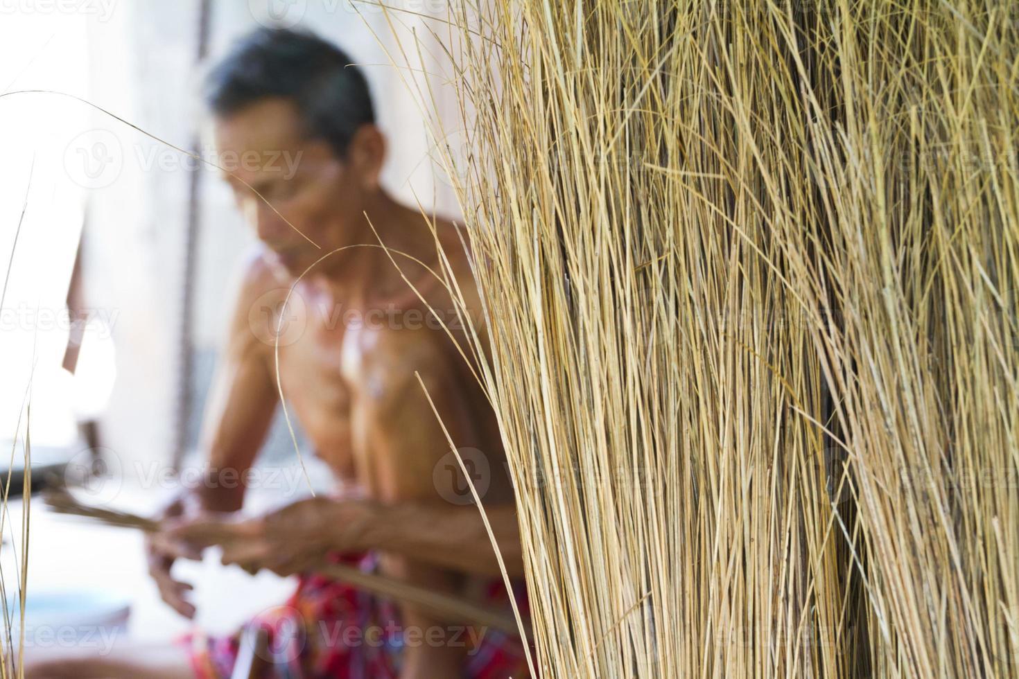 Male elderly Broom photo