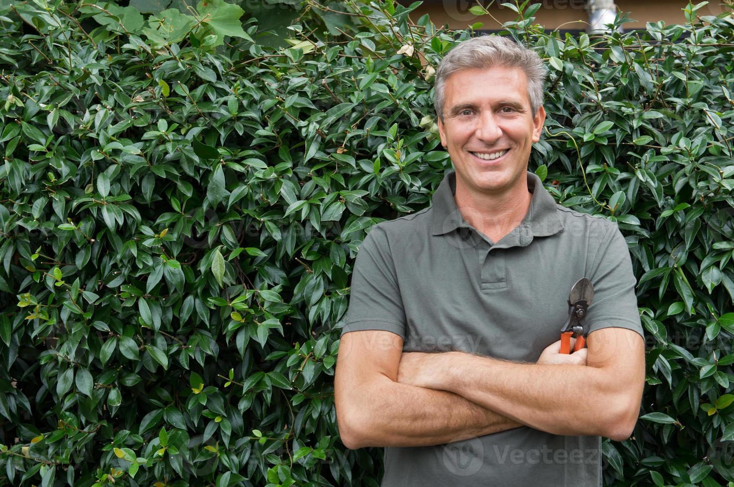 Happy Male Gardener photo