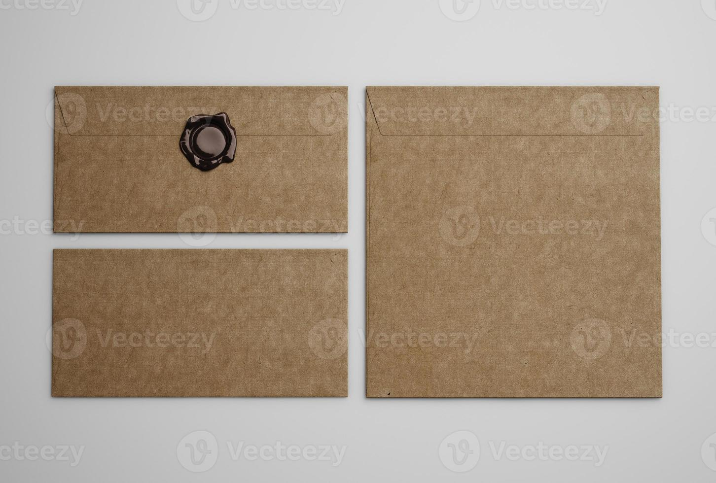 enveloppes vintage marron photo