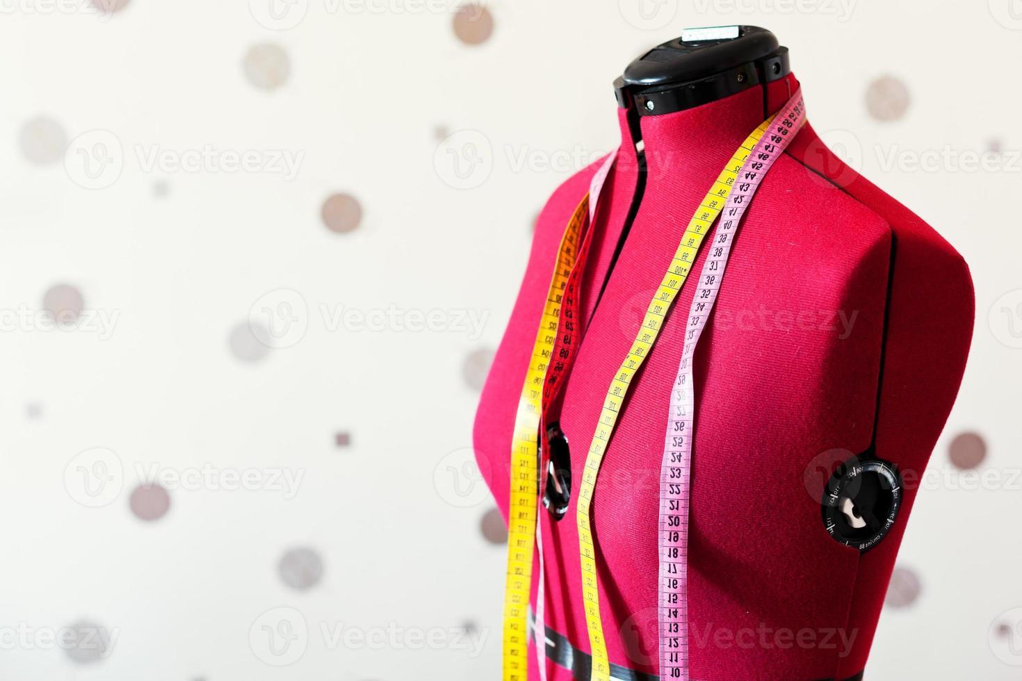 sastre rojo maniquí foto