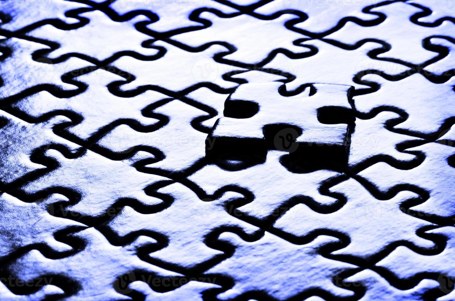 links van een puzzel foto