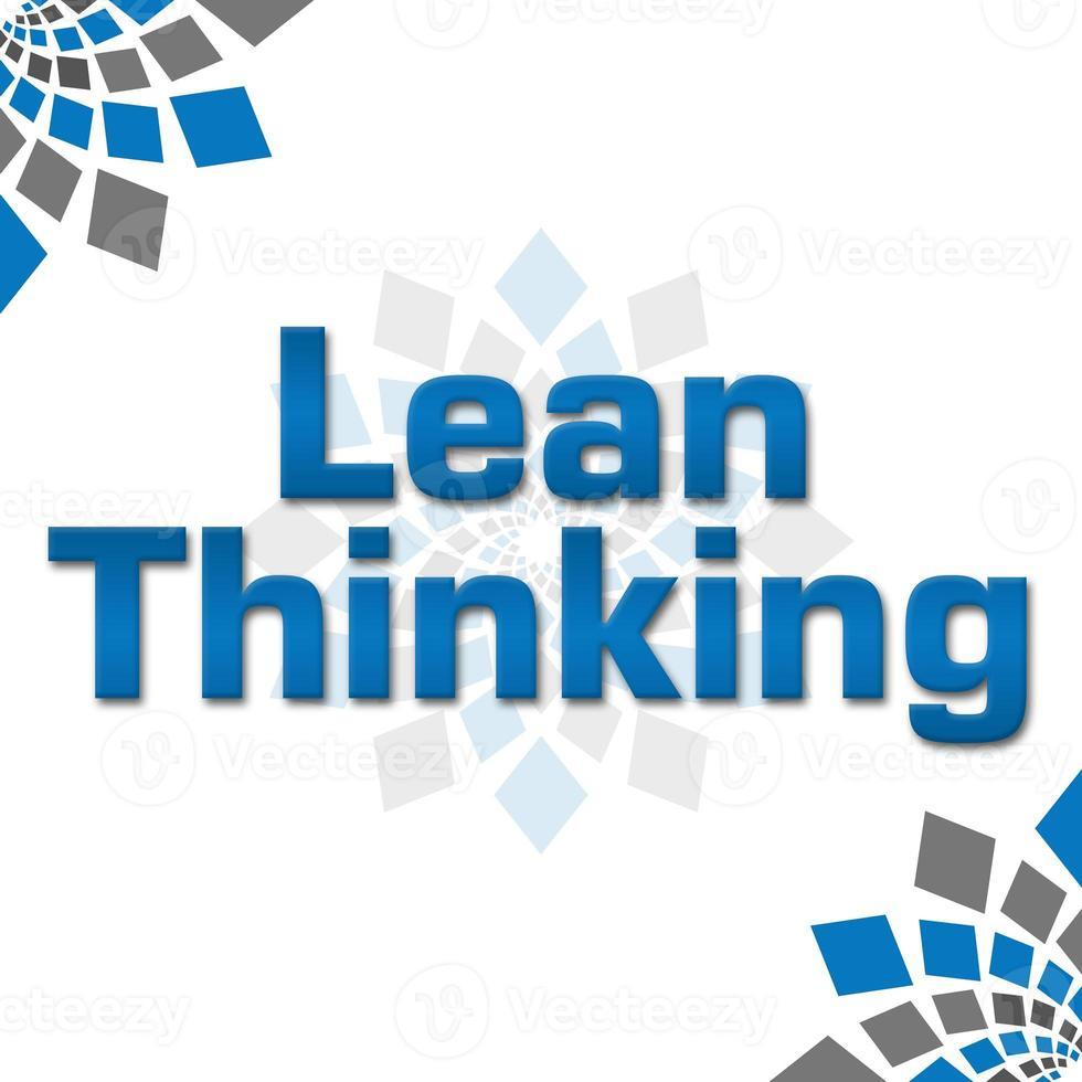 Lean Thinking Blue Grey Squares Elements Square photo