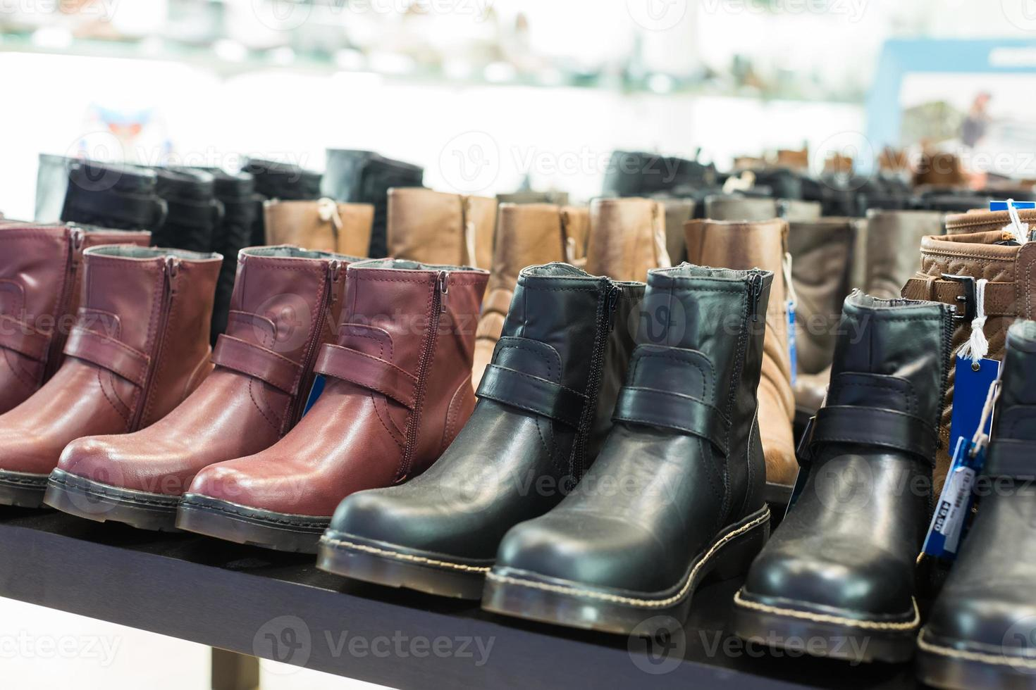 lots of leather wintry male shoes photo