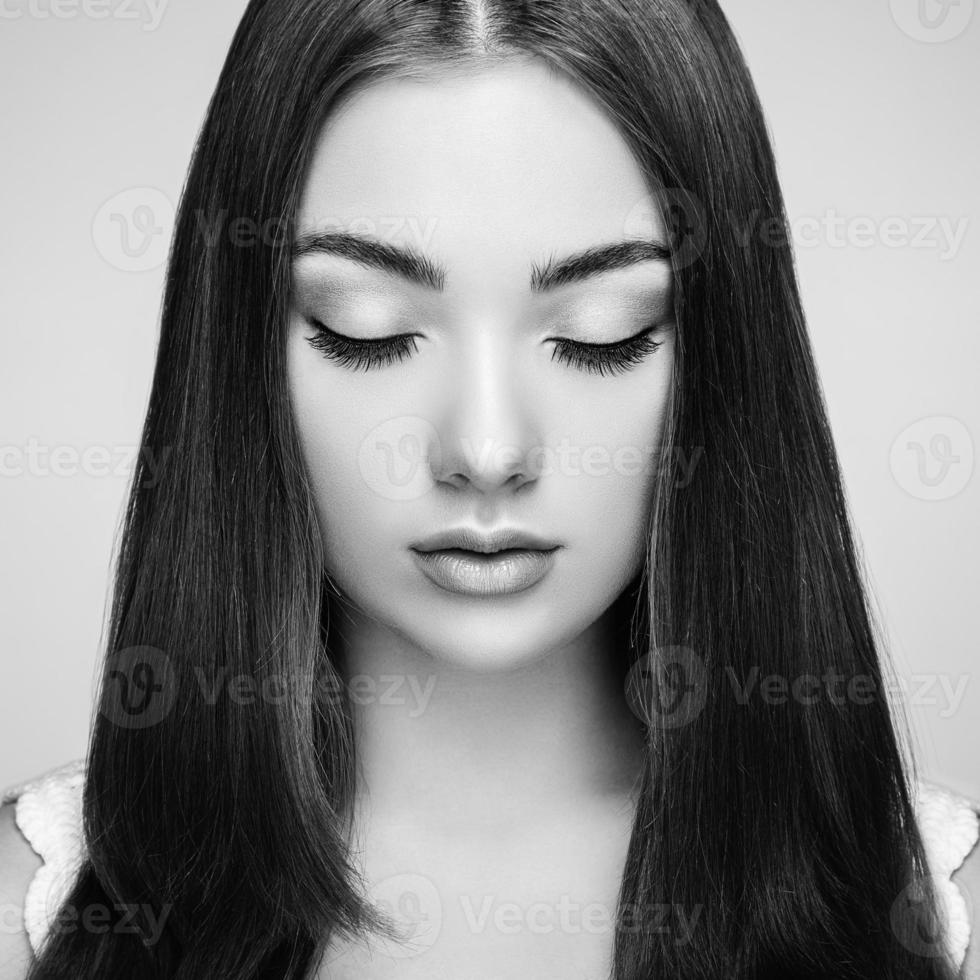 Beautiful woman face photo