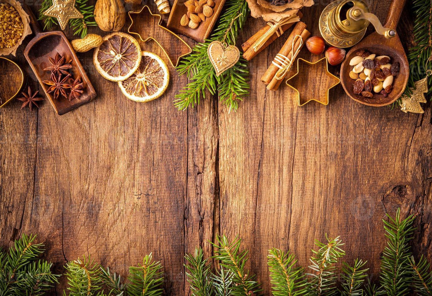 especias para pasteles de navidad foto