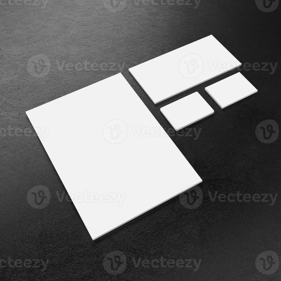 Blank corporate identity template photo