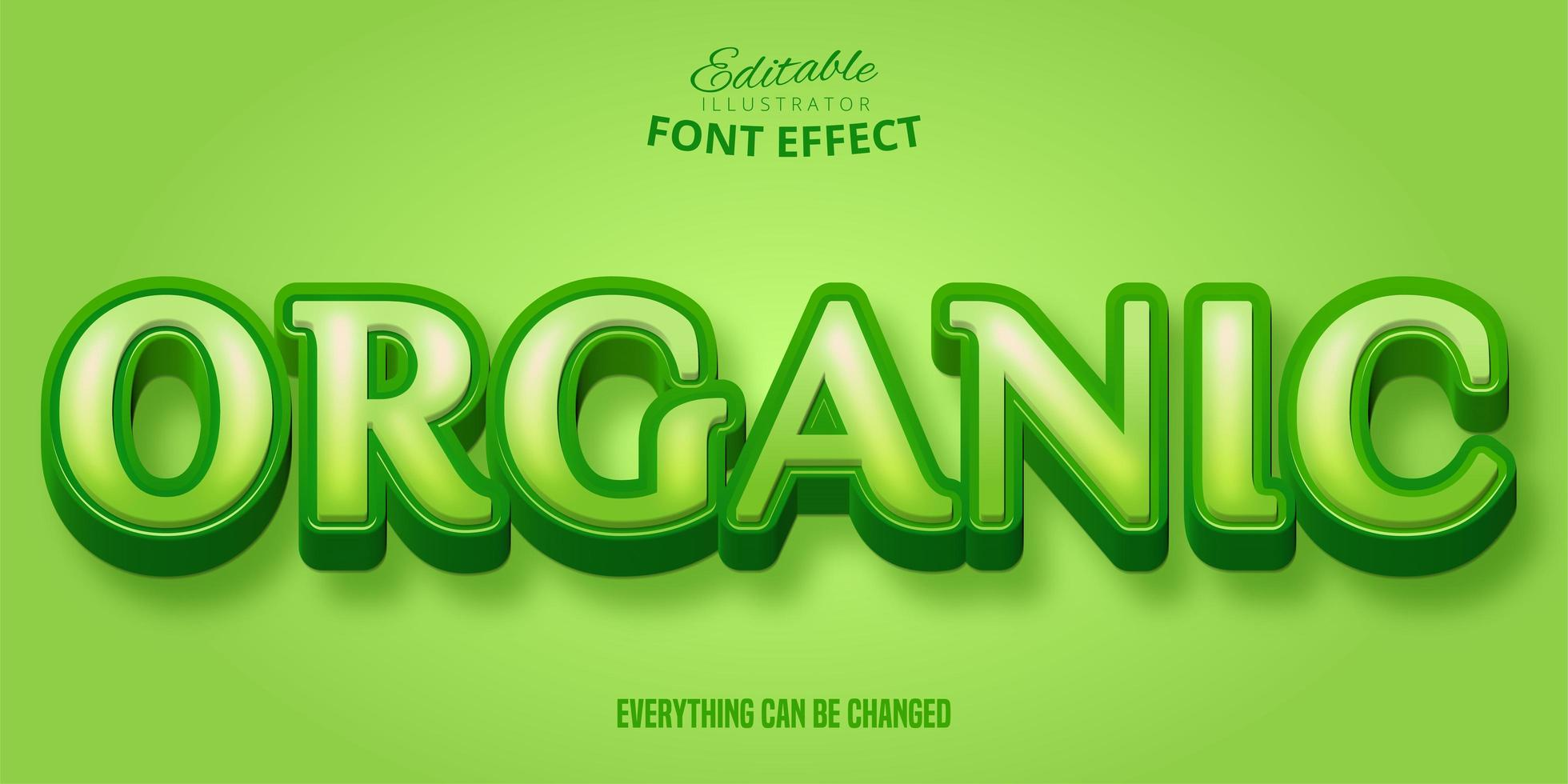 Organic Serif Green Font Effect  vector