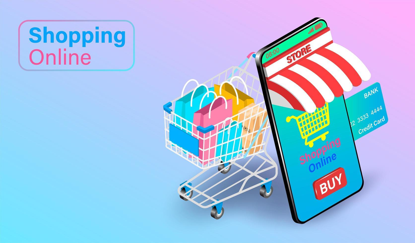 concepto de compras en línea vector