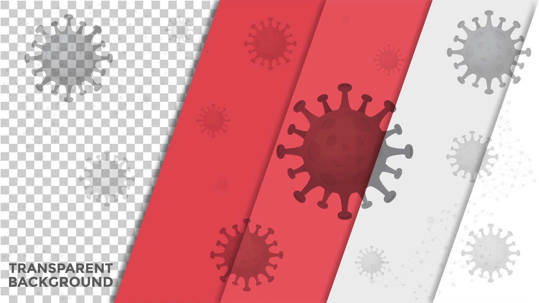 Covid-19 Transparent Virus Background  vector