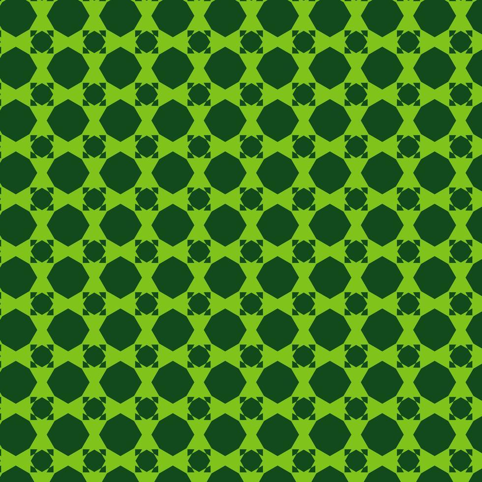 padrão de forma geométrica verde vetor