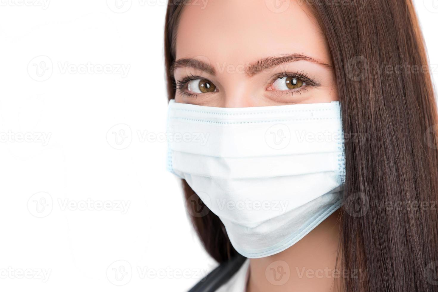 doctor wearing surgical mask photo