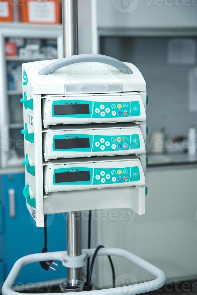 bomba de infusión médica foto