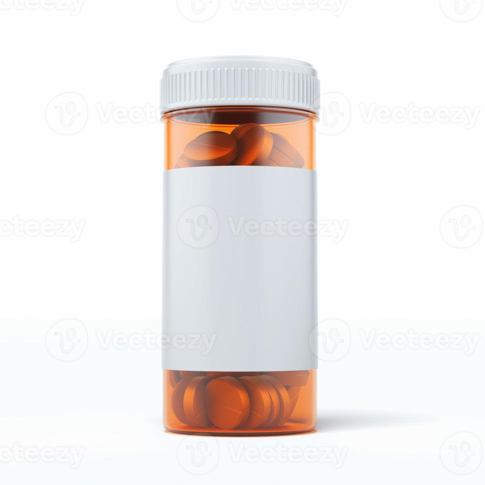 medical pills container photo