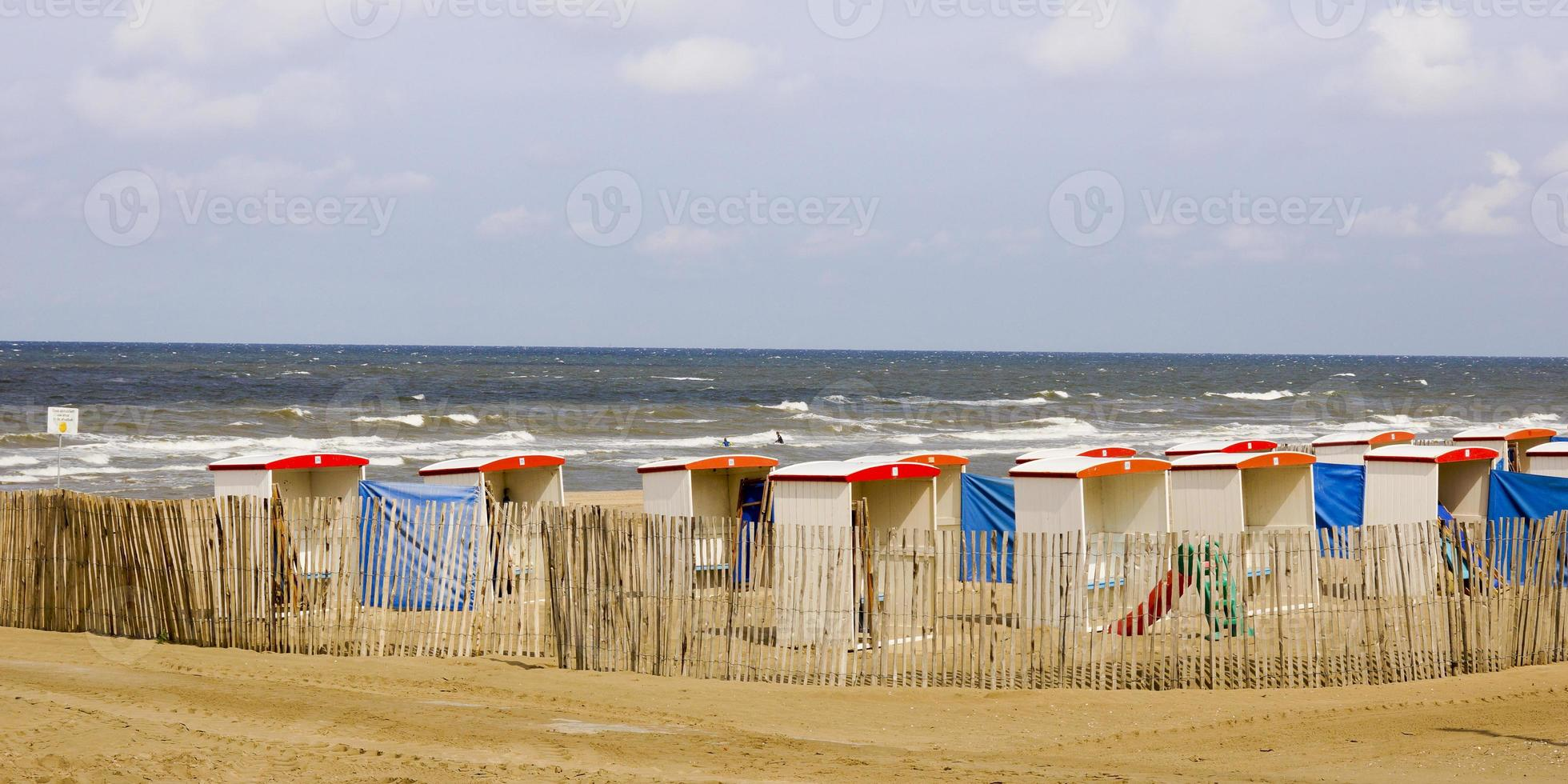 Area with beach huts photo
