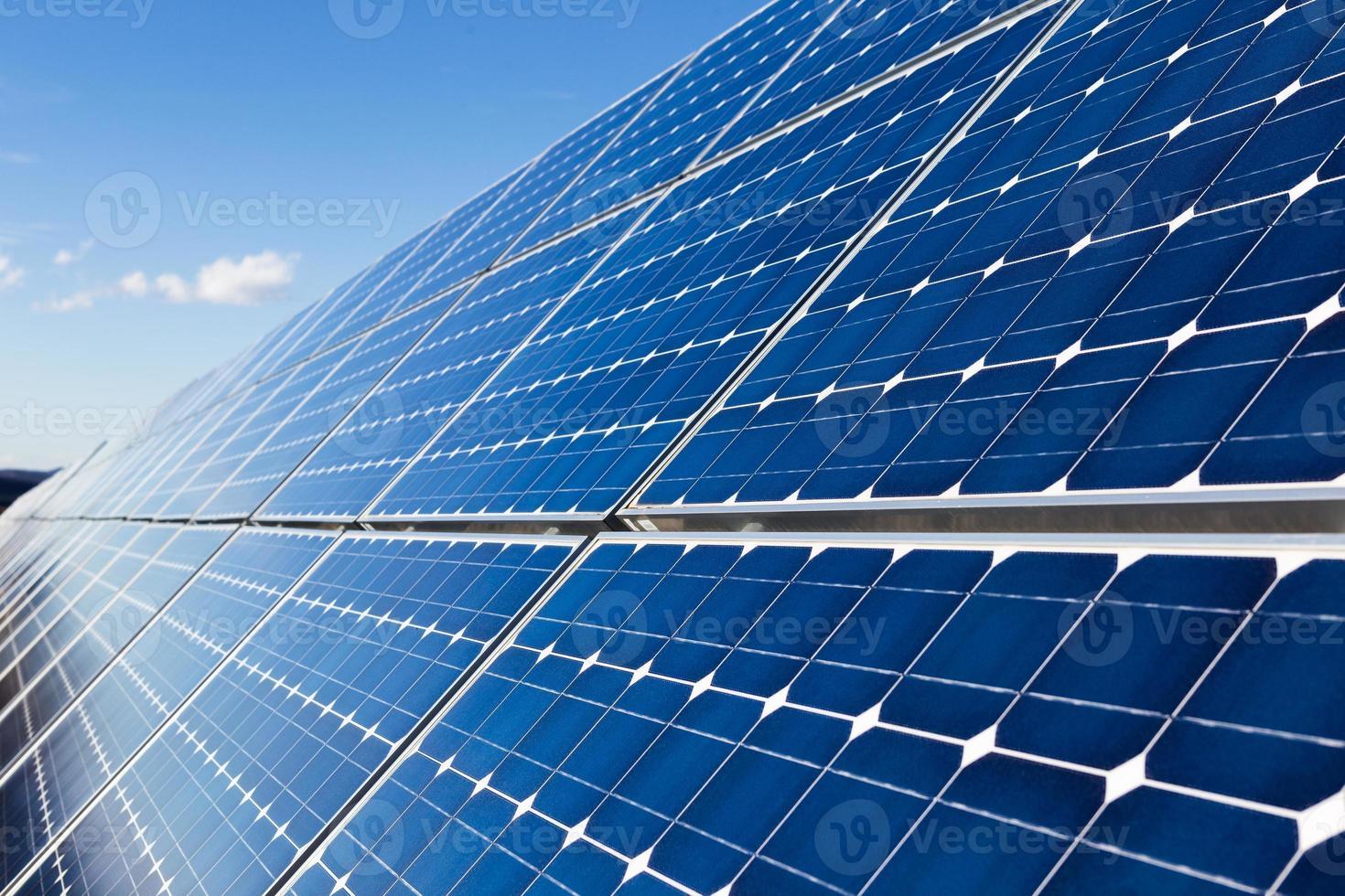 Solar panels installation photo