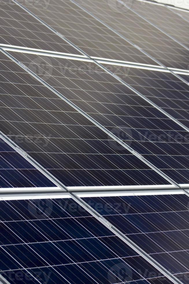 Blue solar panels photo