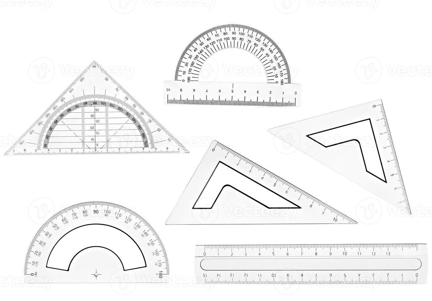 regla plástica matemática geometría educación escolar foto