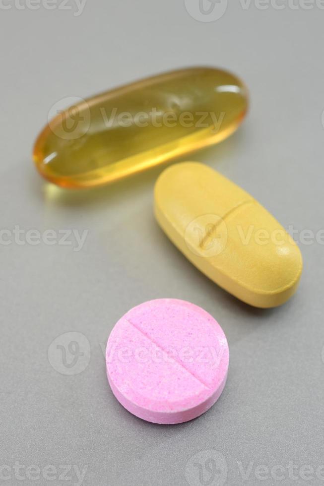 cápsulas de medicación foto
