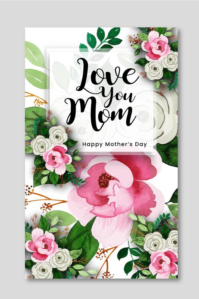 Happy Mother's Day Creative Poster Design vector