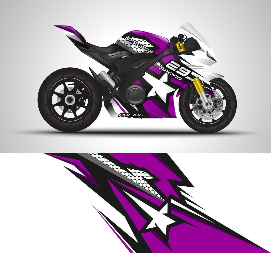 Purple vinyl sticker  vector