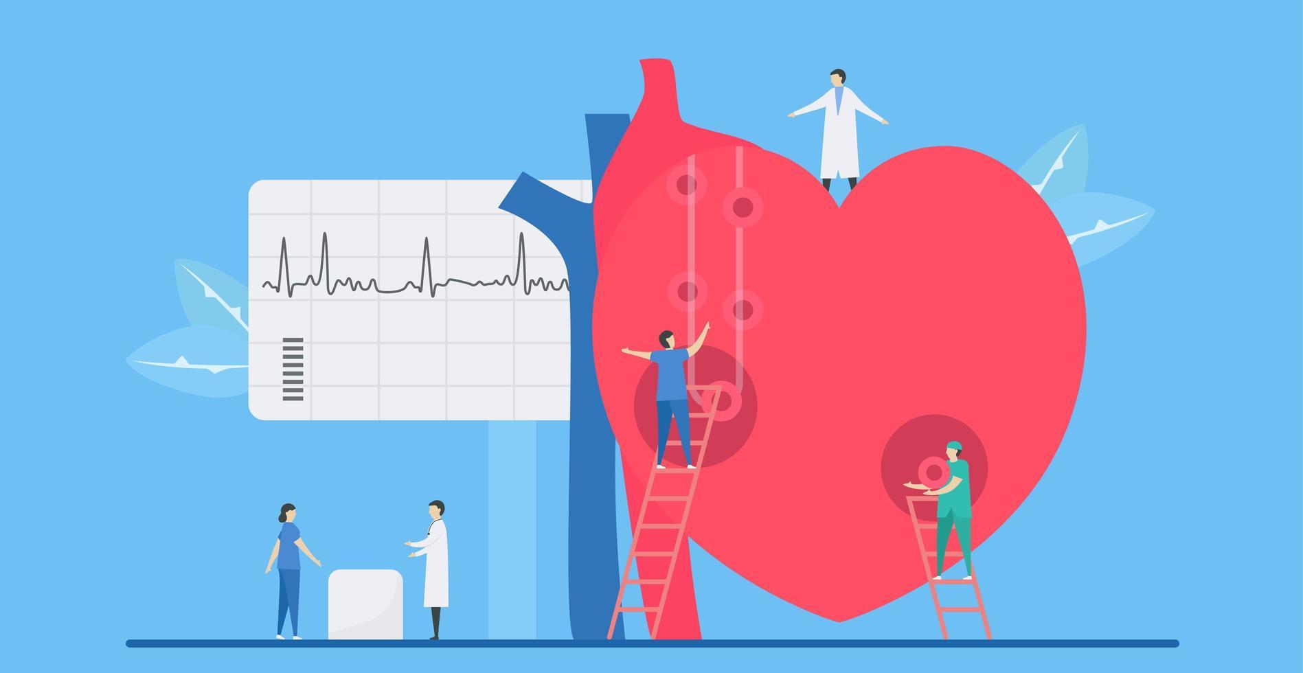 Konzept der kardiologischen Arrhythmiekrankheit vektor