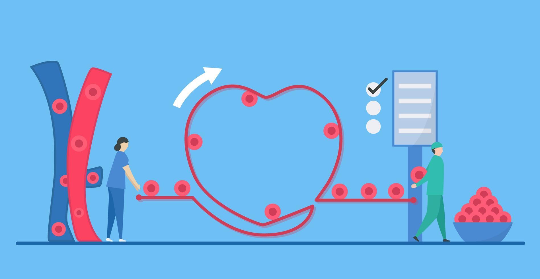 Kardiologie Arrhythmie Konzept vektor