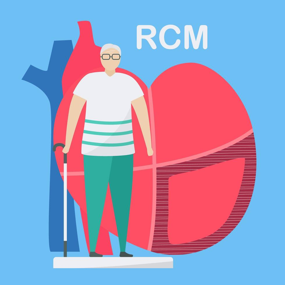 Restrictive Cardiomyopathy Concept  vector