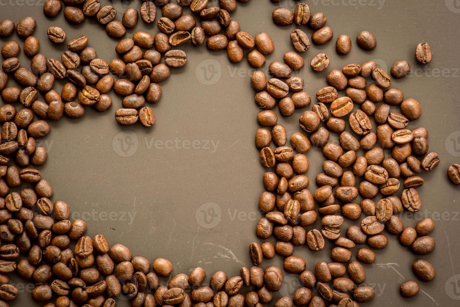 Coffee on grunge dark background photo