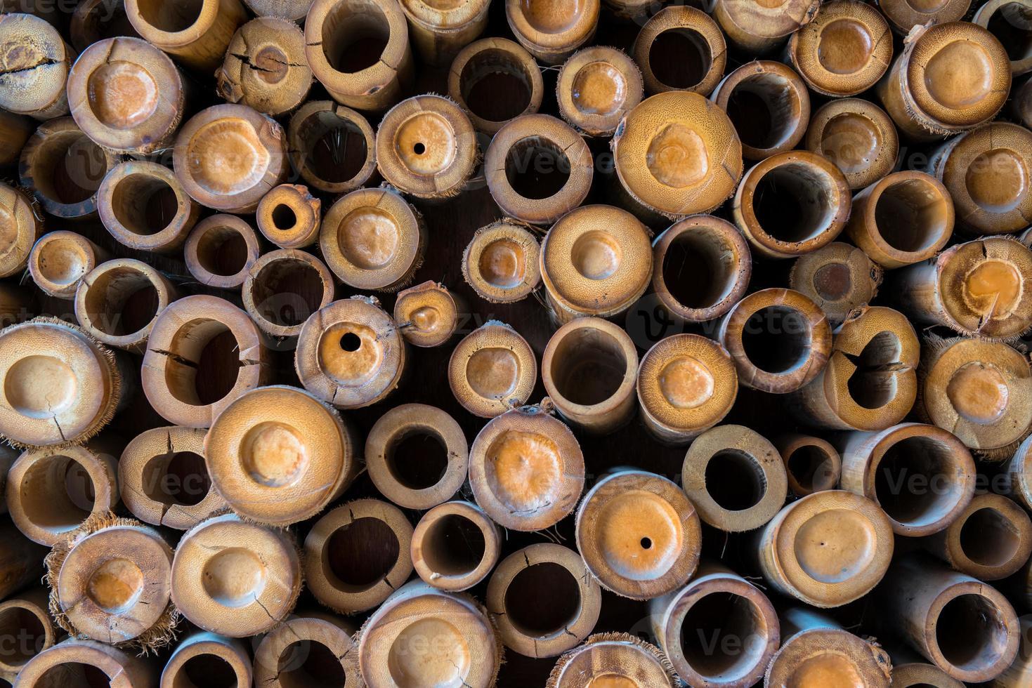patrón de pared de bambú foto