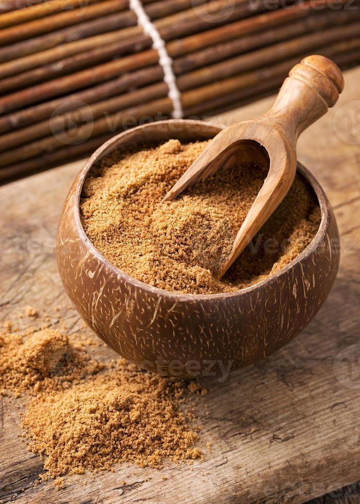 azúcar de palma de coco foto