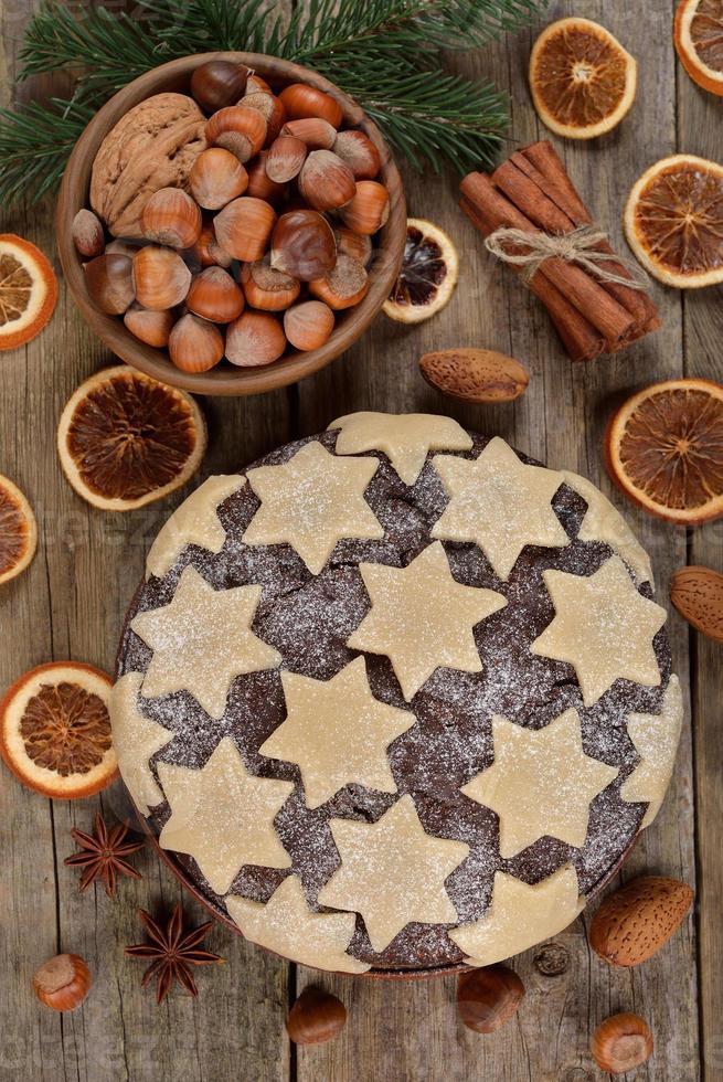 Traditional Christmas cake photo