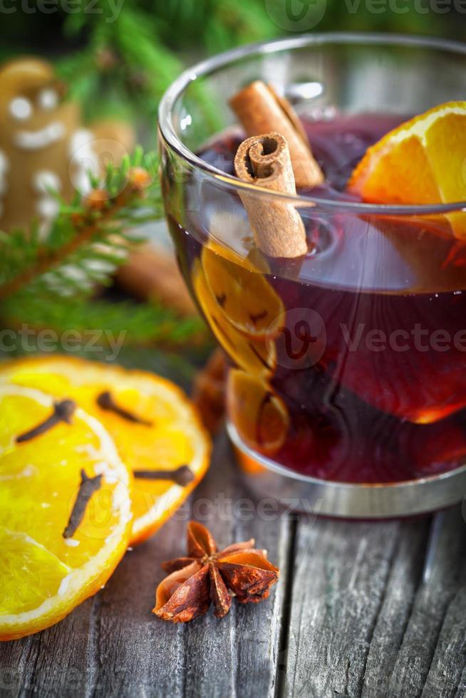 Mulled wine - holiday decoration photo