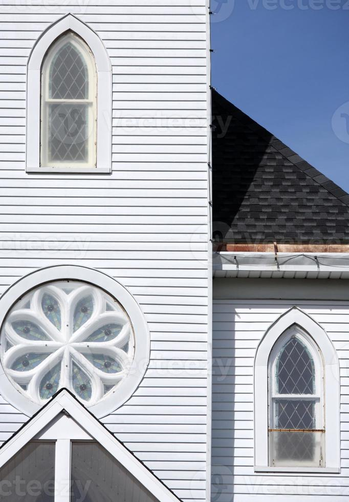 Church detail with geometric patterns photo