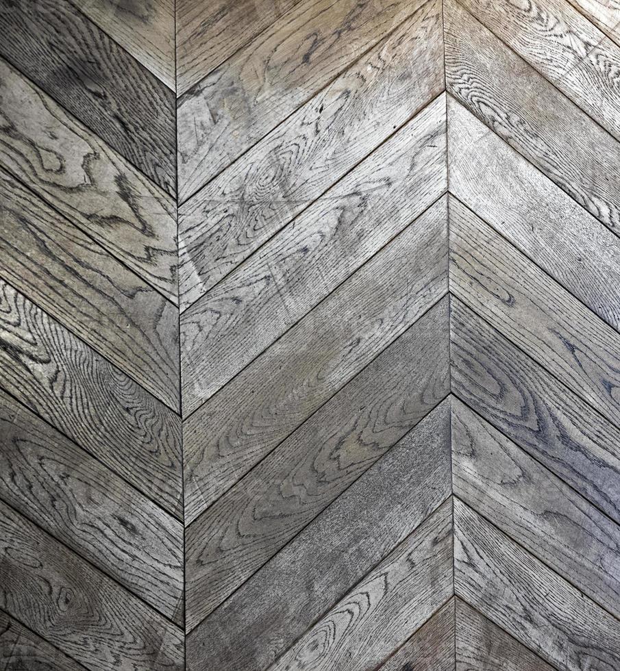 patrón de piso de madera en zigzag foto