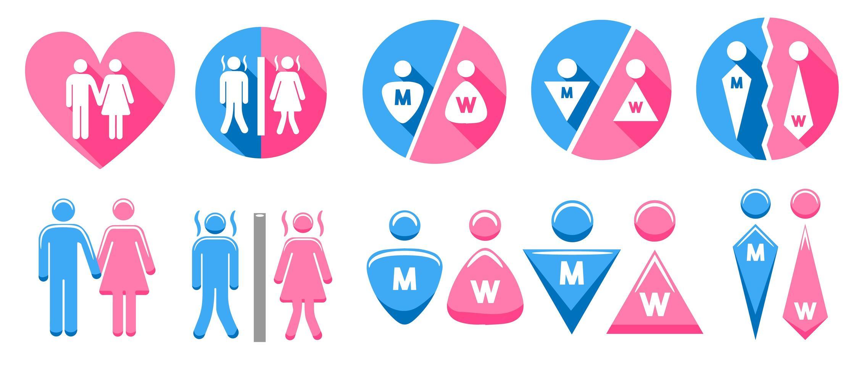 geslacht teken set vector