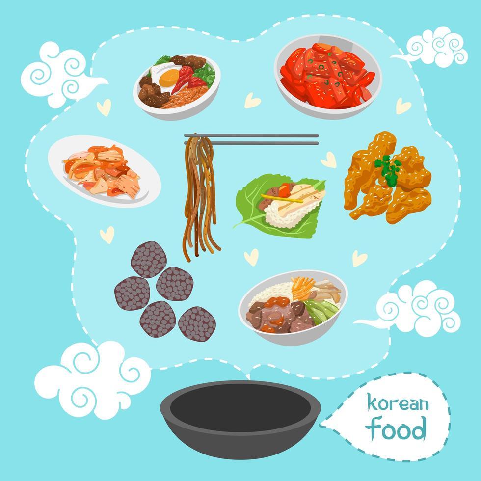 Korean Food Poster  vector