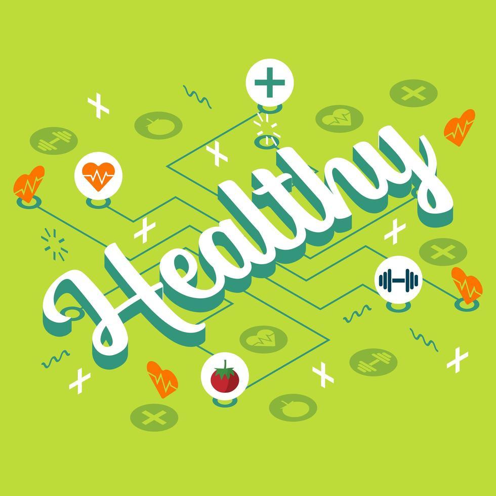 Cartel de infografía alimentos saludables y estilo de vida vector