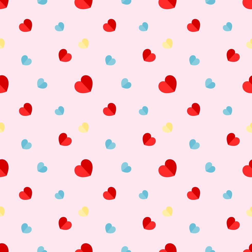 kleurrijke papieren harten naadloze patroon vector