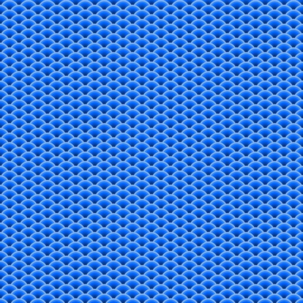 ventilador azul em forma de sobreposição sem costura padrão vetor