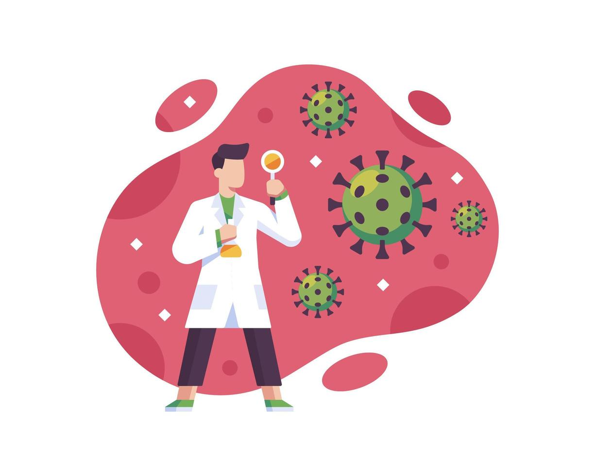 uno scienziato è alla ricerca di un vaccino vettore