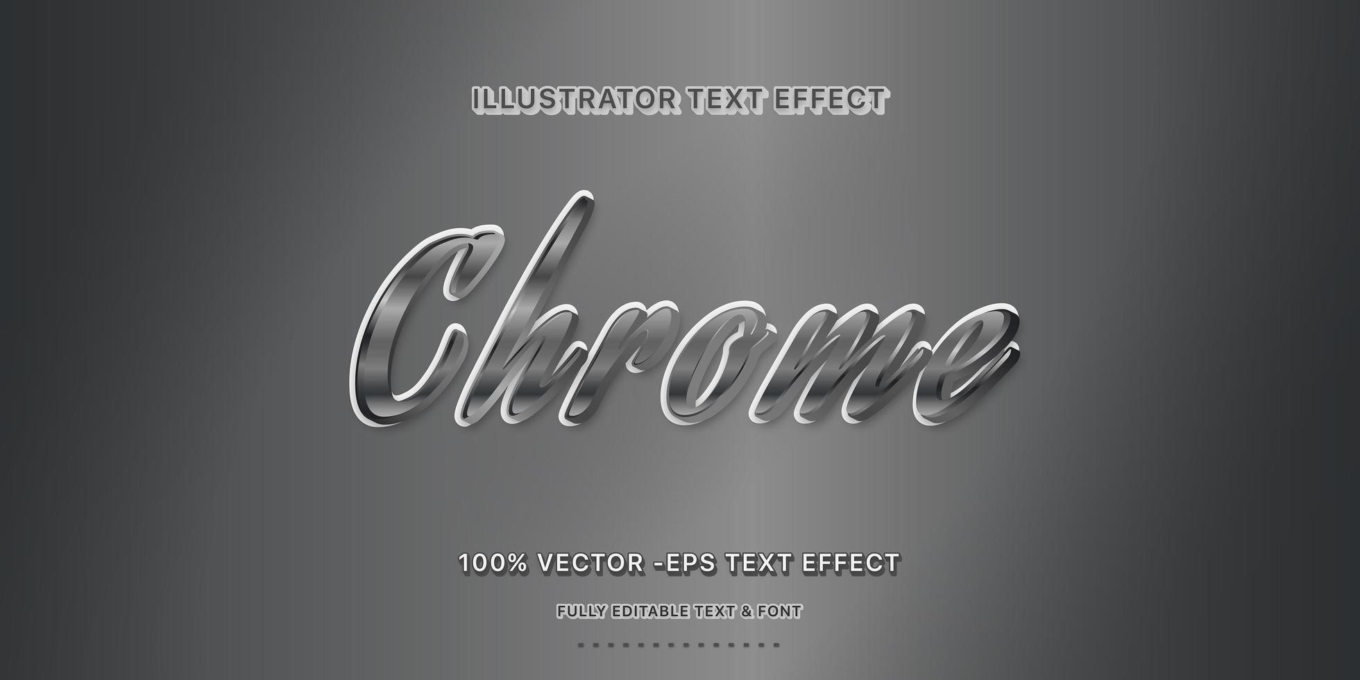 estilo de texto editável do chrome vetor