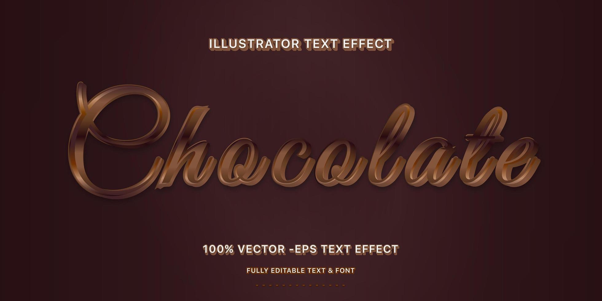 estilo de texto editável chocolate escuro vetor