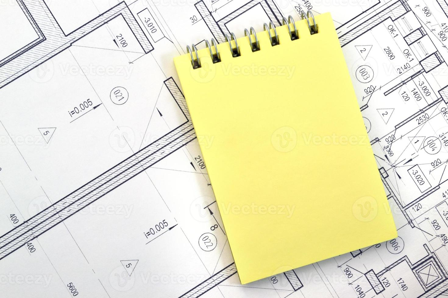 Notebook on the background of digits photo