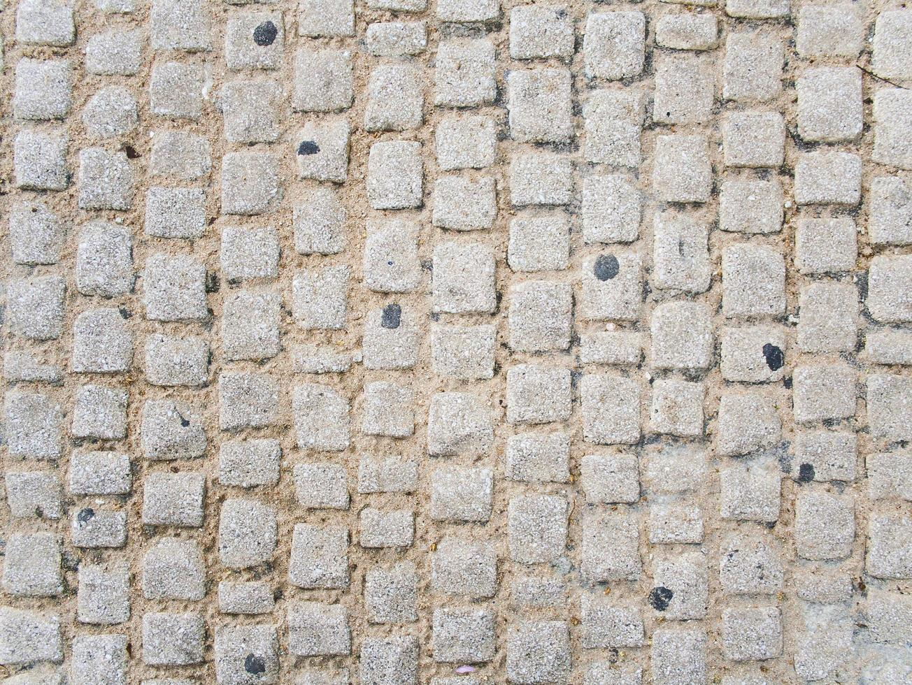 Pattern of cobblestone sidewalk photo