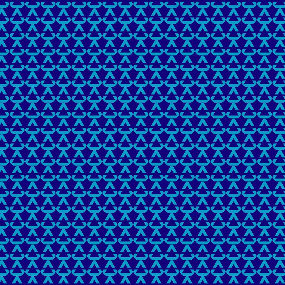 padrão sem emenda geométrico triangular azul vetor