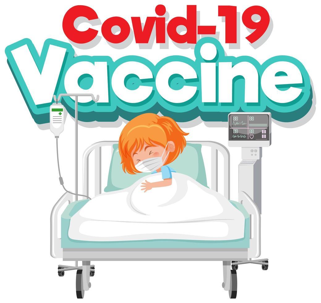covid-19 vaccinaffiche vector
