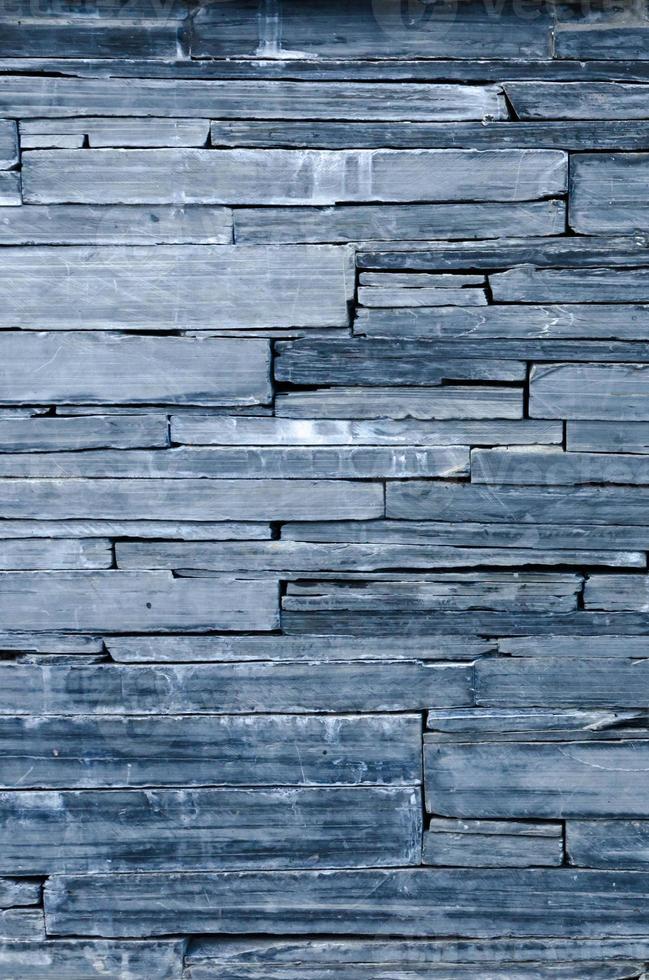 modern pattern of bule stone wall decorative surfaces photo