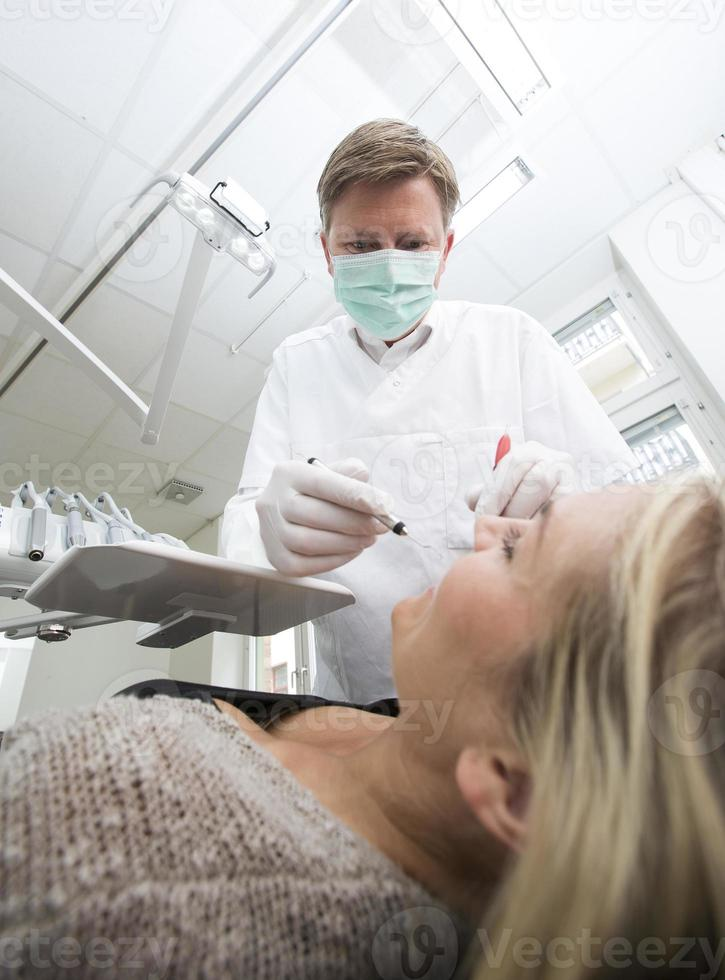 Dentist in action photo
